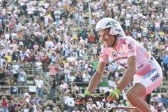 d'Italia van de giro: overwinning van Ivan Basso Stock Afbeeldingen