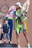 d'Italia van de giro: overwinning van Ivan Basso Royalty-vrije Stock Afbeelding