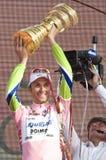 d'Italia van de giro: overwinning van Ivan Basso Stock Foto's