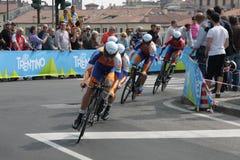 d'Italia van de giro - team RADOBANK stock afbeeldingen
