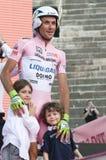 d'Italia van de giro: winnaar Ivan Basso met kinderen Royalty-vrije Stock Foto