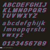 3D Italic alphabet font style. Stock Image