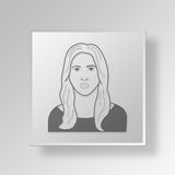 3D Ivanka Trump Button Icon Concept Stock Foto