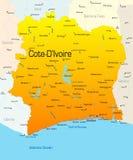 d'Ivoire de Cote ilustración del vector