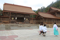 D'Izumo sanctuaire au Pèlerinage синтоистское (Japon) Стоковое Изображение