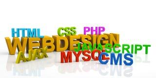 3D języka programowania teksta skróty - Webdesign, HTML, CS ilustracji