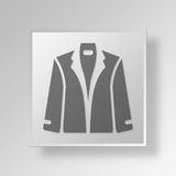 3D  Jacket Button Icon Concept Royalty Free Stock Images