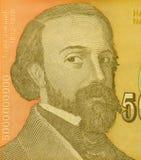 D. Jaksich. On 5000000000 Dinara 1993 Banknote from Yugoslavia Royalty Free Stock Image