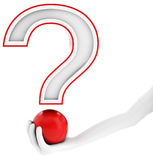 3d jand with red question mark Stock Image