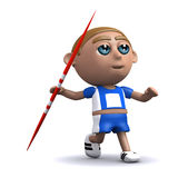 3d Javelin thrower Stock Image
