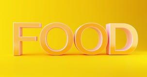 3d jedzenia tekst ilustracja wektor