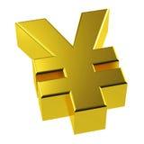 3d jenu Złocisty symbol Złoty Japonia Zdjęcia Royalty Free