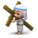 3d Jesus carrying the cross Royalty Free Stock Photos