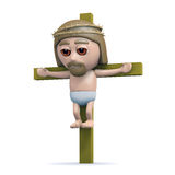 3d Jesus on the cross Stock Image