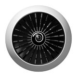 3D jet engine - front view. 3D jet engine on white background - front view. Great for topics like engineering, aviation, technology etc Royalty Free Stock Images