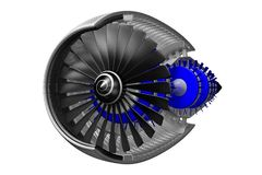 3D jet engine Royalty Free Stock Images