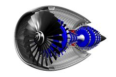 3D jet engine Royalty Free Stock Photos