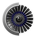 3D jetmotor - främre sikt Fotografering för Bildbyråer