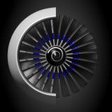 3D jetmotor - främre sikt Arkivfoton