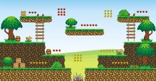 2D jeu 56 de plate-forme de Tileset Images libres de droits