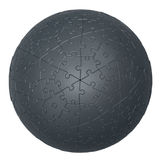 3D jigsaw puzzle ball stock photos