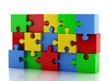 3d Jigsaw Puzzle. Business creativity and success concept Royalty Free Stock Image