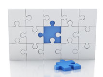 3d Jigsaw Puzzle. Business creativity and success concept Stock Photo