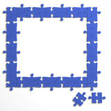 3d Jigsaw puzzle frame Stock Image