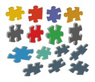 3D puzzle Royalty Free Stock Photo