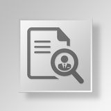 3D Job Search Button Icon Concept Royalty Free Stock Photography