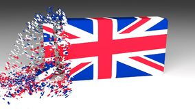 3D Jobs word chipped out of a UK flag stock video footage