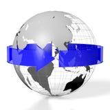 3D jord, loppbegrepp Arkivfoton