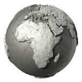 3D jordklot Afrika royaltyfri illustrationer