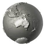 3D jordklot Australien Royaltyfria Bilder