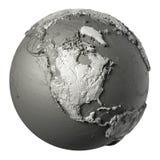 3D jordklot Nordamerika vektor illustrationer