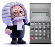 3d Judge calculates Royalty Free Stock Photo