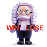 3d Judge decides on win or lose Stock Photo