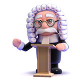 3d Judge lectures Royalty Free Stock Photos