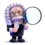 3d Judge magnifying glass Stock Image