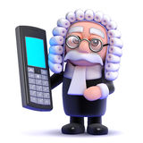 3d Judge and mobile phone Stock Image