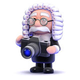 3d Judge photographer Royalty Free Stock Image