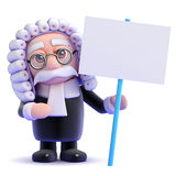 3d Judge protests Stock Images