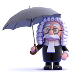 3d Judge in a storm Royalty Free Stock Photography