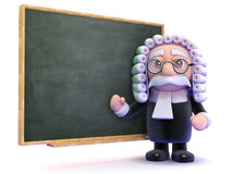 3d Judge teaches law Stock Photo