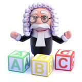 3d Judge teaches you the alphabet Royalty Free Stock Photography