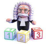 3d Judge teaches you to count Stock Photos