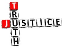 3D justice Truth Crossword Image stock