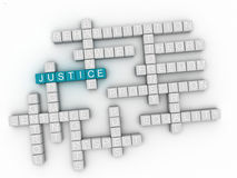 3d Justice word cloud concept Royalty Free Stock Photo
