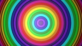 3D 4k抽象五颜六色的彩虹螺旋形状 向量例证
