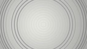 3D 4k abstrakcjonistyczny tło z spiralą kształtuje - czarny i biały monochromatic ilustracja wektor